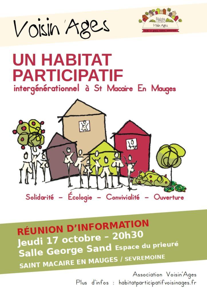 affiche réunion habitat participatif sevremoine